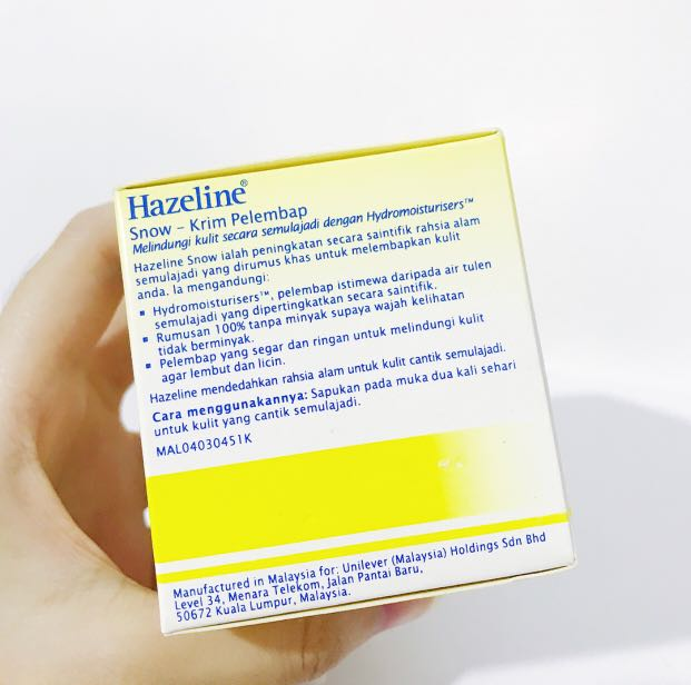 Hazeline Snow Moisturising Cream Pelembab Wajah Krem Muka Besar 100gr Import Malaysia - Page 3 - Daftar Update Harga Terbaru Indonesia