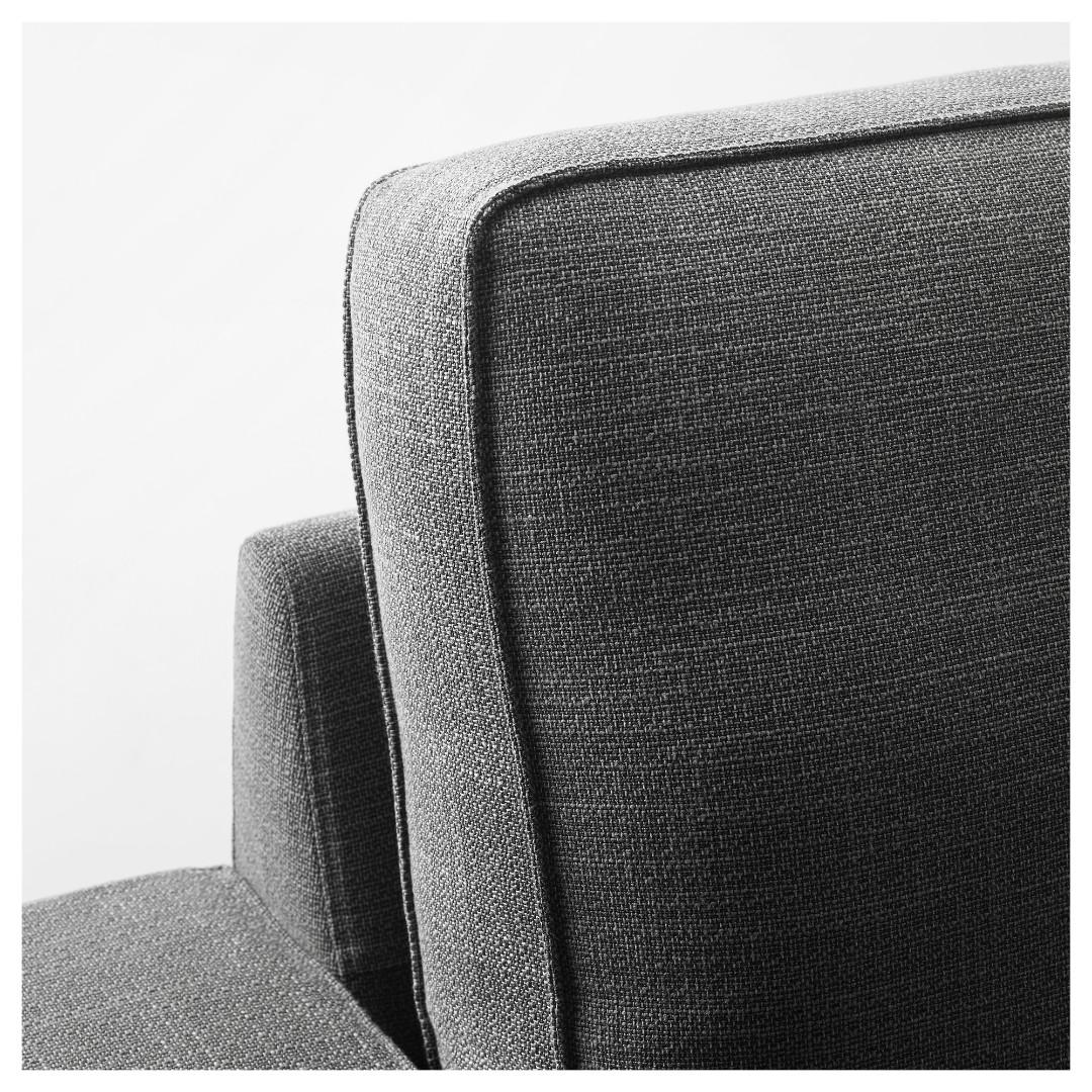 L-shape 4-seat sofa, borred with chaise longue
