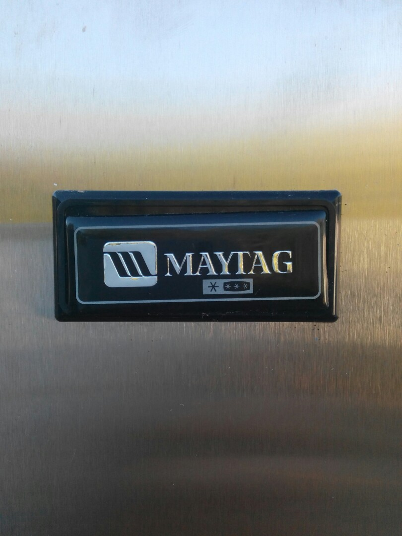 MAYTAG 2 door stainless steel frost-free fridge freezer 670 litres