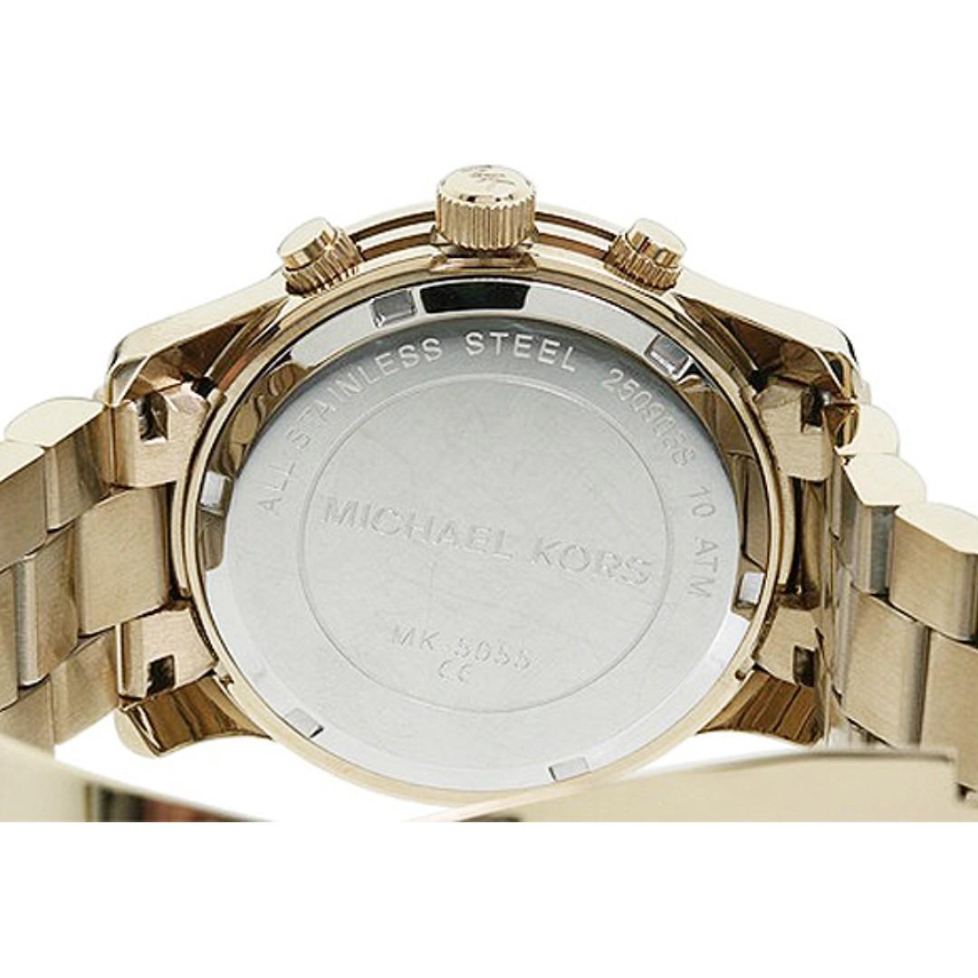 b1d01b214b0a Michael Kors 5055 Midsized Chronograph Gold Tone Womens Watch MK5055 ...
