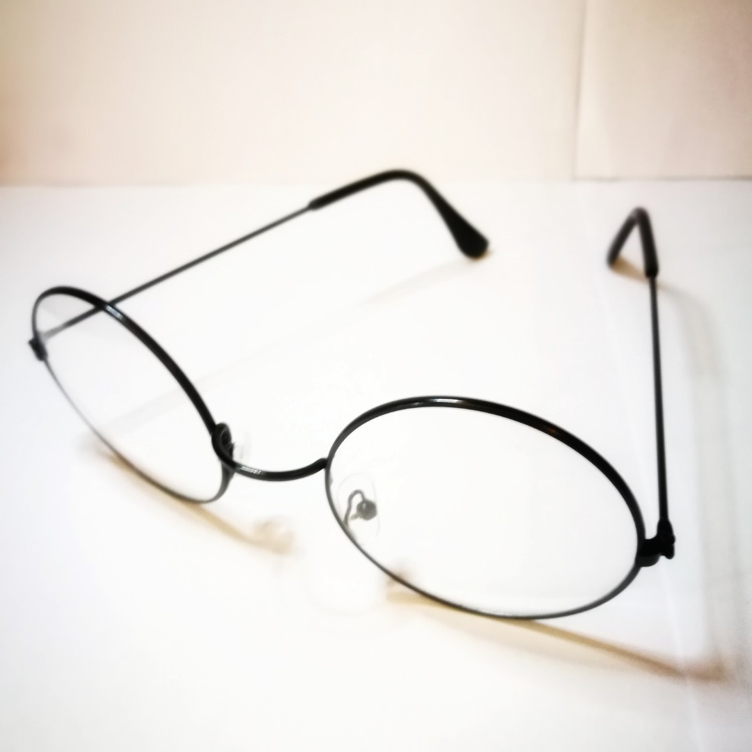 PRE💙D Harry Potter-Inspired Clear Lens Round-Rimmed Black Frame ...