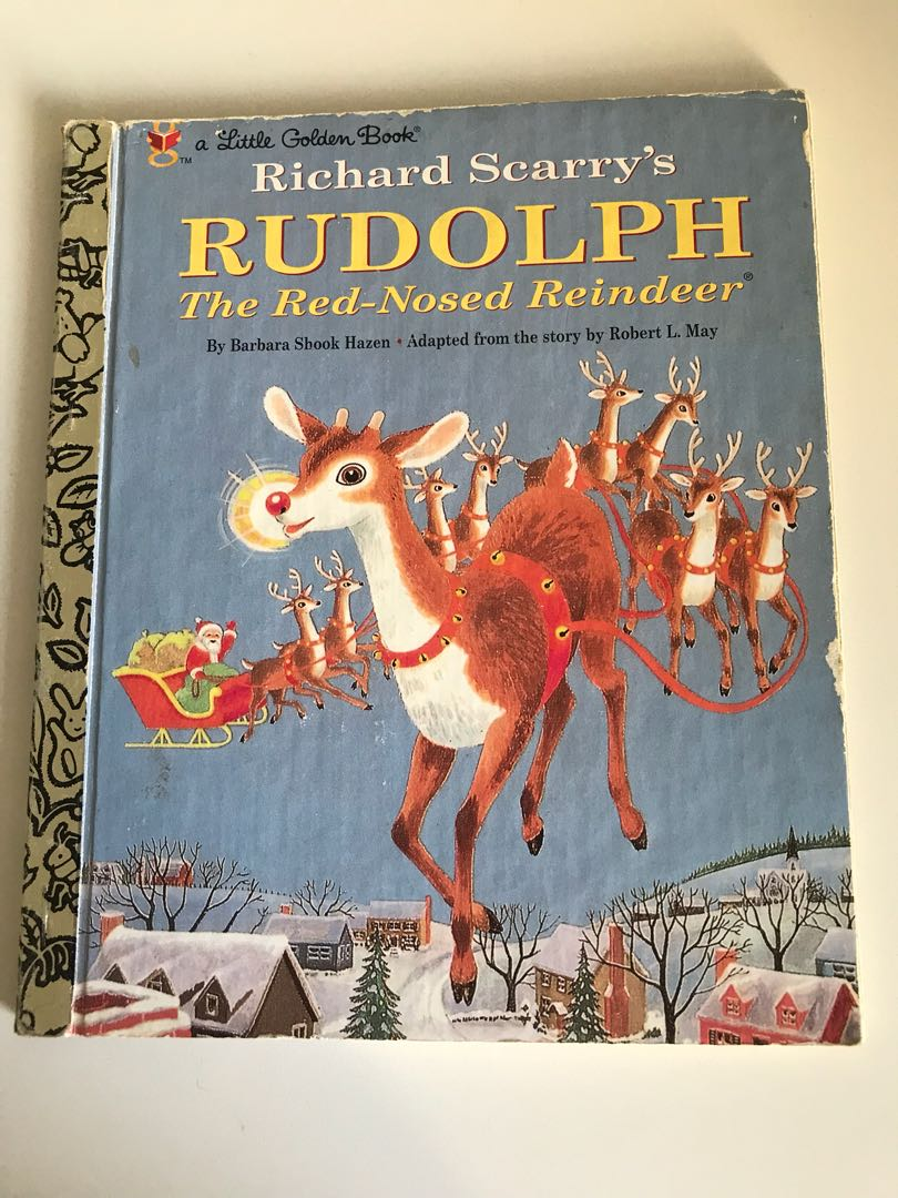 Richard Scarry's - Rudolph The Red Nosed Reindeer -Little Golden Book