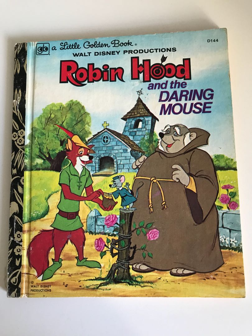 Robin Hood And The Daring Mouse - Little Golden Book