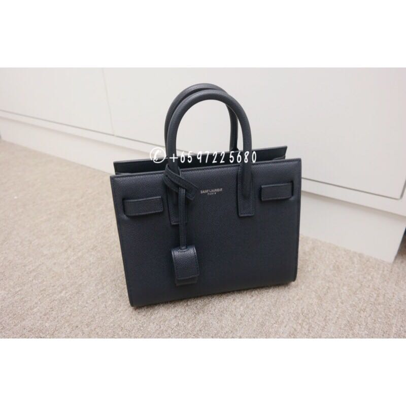 6f0033f2ad8 Saint Laurent Nano Sac De Jour Grained Calf Leather Navy 398711 ...