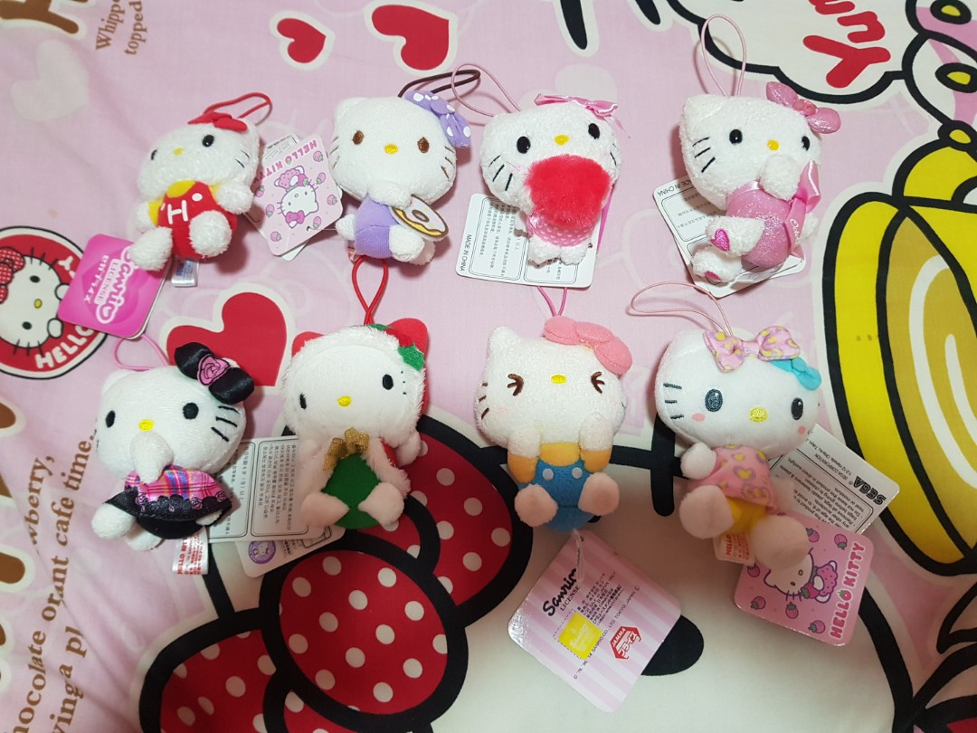 4e9a491dc Sanrio Hello Kitty Plush Keychain, Toys & Games, Others on Carousell