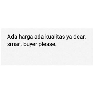 Smart buyer,  please.