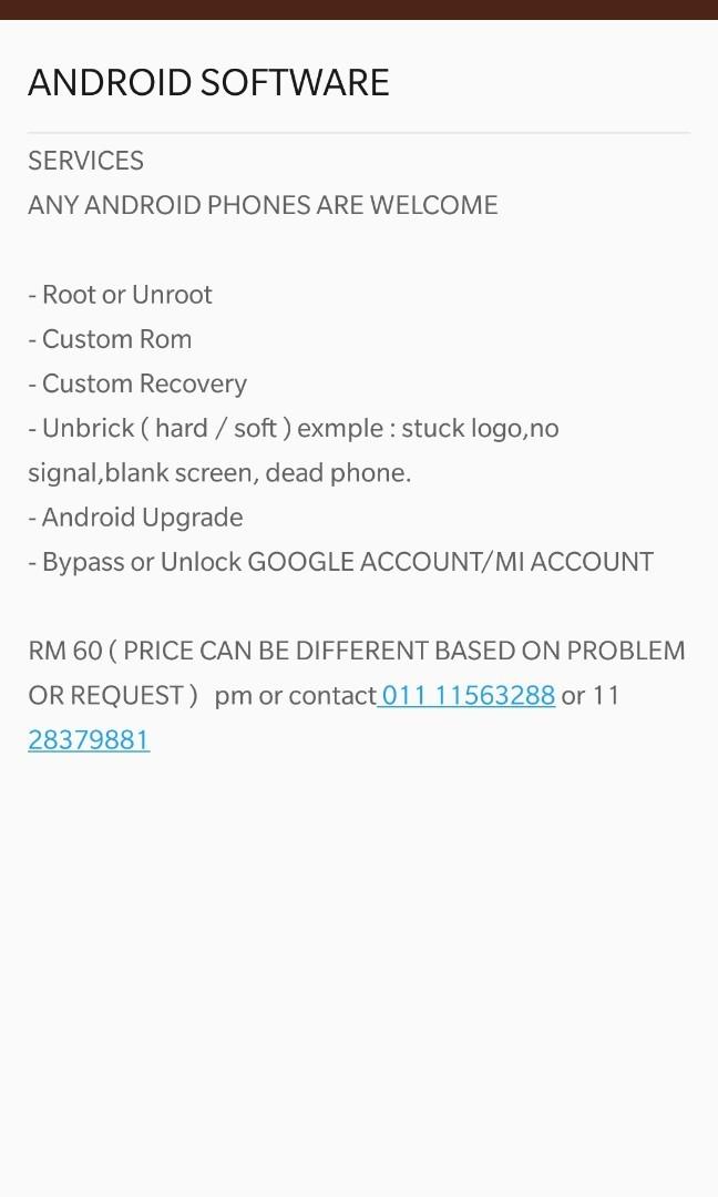 Smartphone repair Android