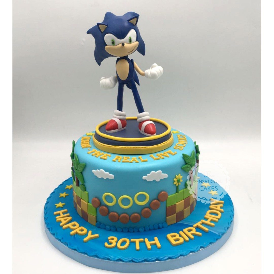 Sonic Underground Theme Boy Birthday Cake Singapore Singaporecake