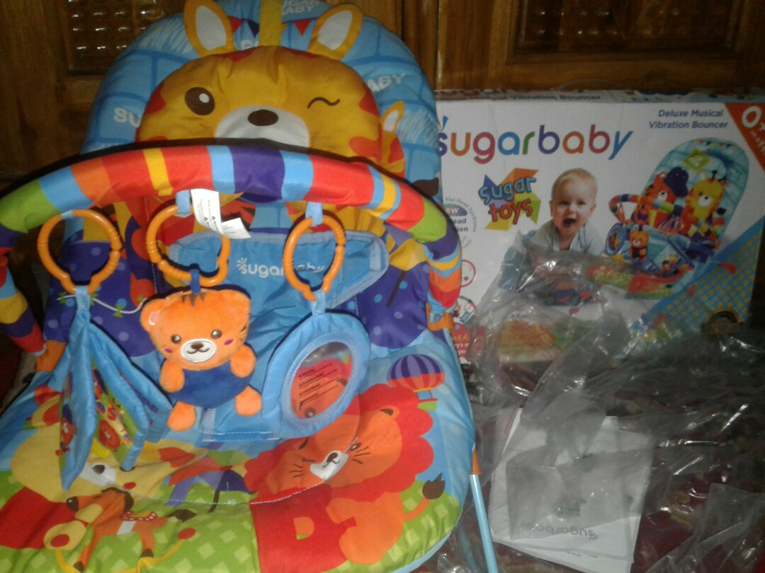 Sugar Baby Fox Deluxe Musical Vibration Bouncer Ayunan Bayi Toys Rp259900 Add To Cart