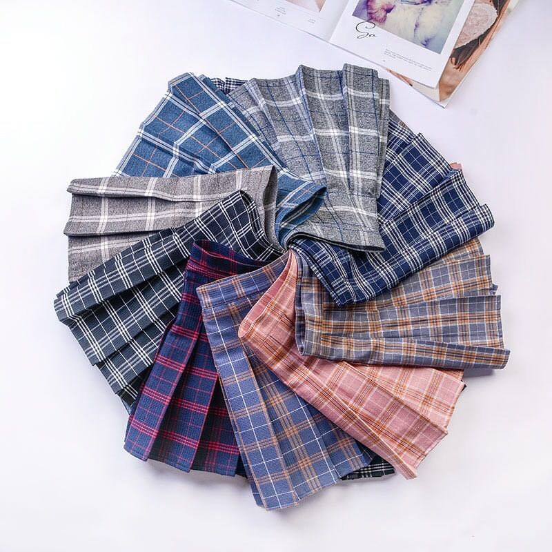 Ulzzang Women's Fold Plait Skirt (PO)