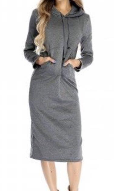 Uniqlo dress with hood