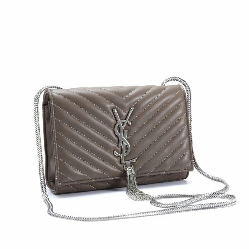 25849783164 Yves Saint Laurent Sling Bag Grey Color, Luxury, Bags & Wallets on Carousell
