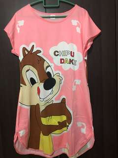 Chip N Dale Sleepwear Dress