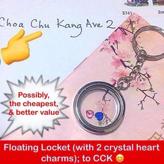 Floating Locket (FREE 2 crystal charms & keychain) [valentine day anniversary remembrance graduation couple lovers customised gifts pandora uncle.anthony uncle anthony uac ]  FOR MORE PICS & DETAILS, 👉 http://carousell.com/p/103605106