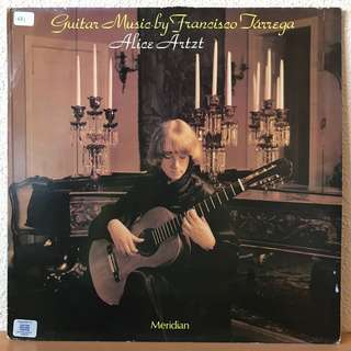 Guitar Music by Francisco Tarrega Alice Artzt Meridian E77026