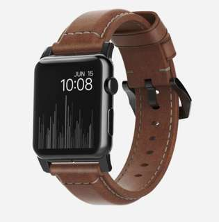 Original NOMAD Traditional Leather Strap for Apple Watch