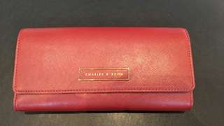 Charles & Keith red purse