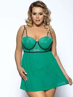 Green Lace Lingerie PLUS Size ( PREORDER )