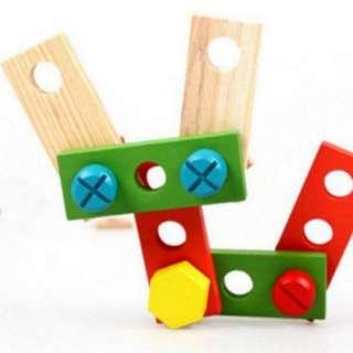 (PO) Wooden Workshop Tool & Storage Pretend Toy Set
