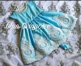 Blue Turquoise Little Girl Dress