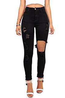 Vibrant High-Waisted Black Jeans