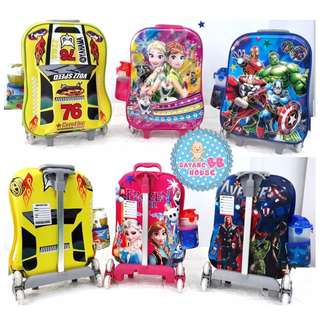 Toys & Kids Cartoon Student Trolley School Bag Or Travel Set 3D