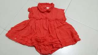 Chateau de sable 3mo orange dress