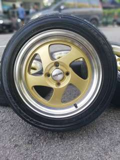 Rotiform 15 inch sports rim vios tyre 70%. *big big offer*