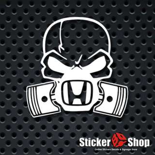 Honda Skull Decal