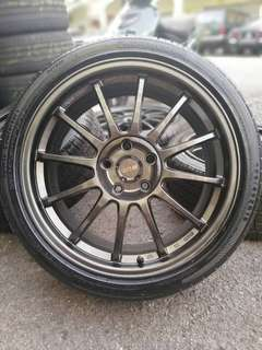 Ssr type f 18 inch sports rim civic fd tayar baru *kuat kuat offer*