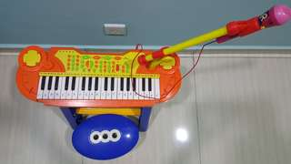 Kids Mini Electronic Keyboard Piano with Stool