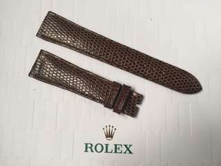 罕有 全新 原裝 勞力士 蜥蜴皮 真皮皮帶 Rolex Lizard Leather Strap 20mm 適合 DATEJUST DAYDATE CELLINI