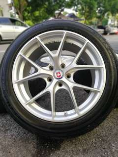Hre 18 inch sports rim estima tyre 70%. *below market price*