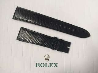 罕有 全新 原裝 勞力士 真皮 蜥蜴皮 皮帶 Rolex Lizard Leather Strap 20mm 適合 DATEJUST DAYDATE CELLINI