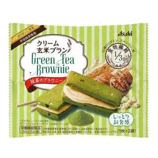 (全新訂購) 日本製造 ASAHI Cream 玄米 綠茶 brownie (6 包裝)