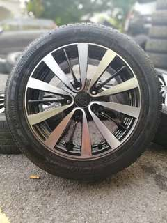 Exora bold 2018 sports rim 16 inch tyre 70%. *below market price*