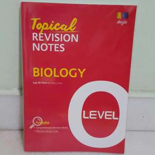 BIOLOGY O LVL REVISION GUIDEBOOK SUMMARY NOTES BRAND NEW