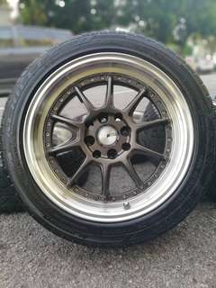 Ssr professor 16 inch sports rim honda city tyre 70%. *kuat kuat offer*