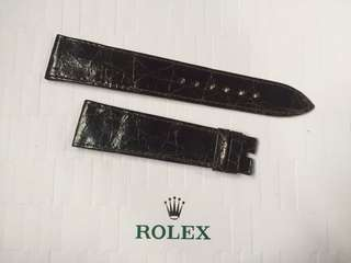 罕有 全新 原裝 勞力士 真皮 鱷魚皮 皮帶 Rolex Crocodile Leather Strap 20mm 適合 DATEJUST DAYDATE CELLINI