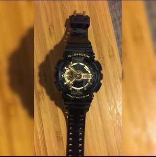 G-shock 手錶 黑金