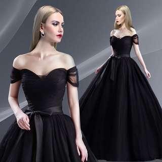 pre order  black red blue off shoulder wedding bridal dress gown  RB0604