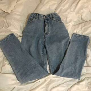 Vintage-look High Waisted Jeans