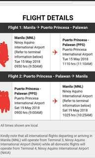 Roundtrip ticket to puerto prinsesa for 2