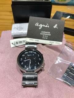 Agnes b Agnes'b 三眼 手錶 錶 精品錶 二手