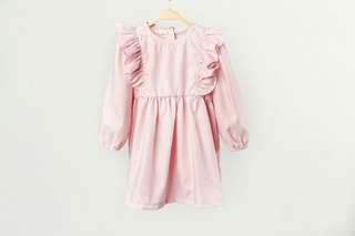 Riley Ruffles dress in soft pink