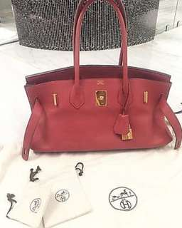 Hermes Birkin shoulder 42 red leather