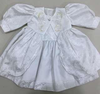 3 in 1 Baby Dress in White