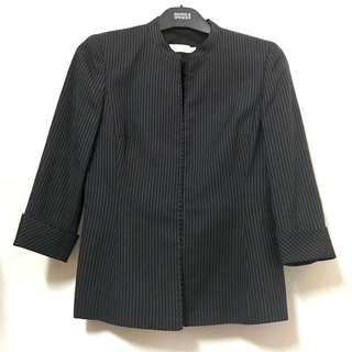 G2000 Navy Stripe Suit 寶藍色直條西裝連裙