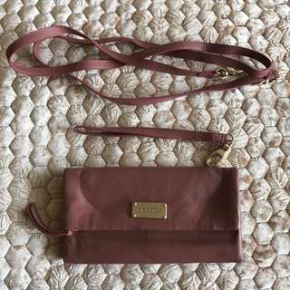 Oroton Dirty Pink Wallet Shoulder bag Clutch
