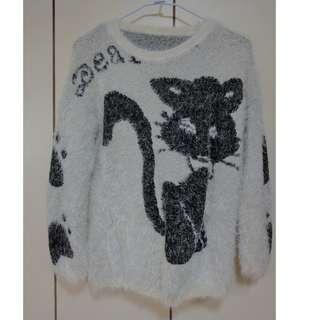 [二手] (白)表面刷毛衣